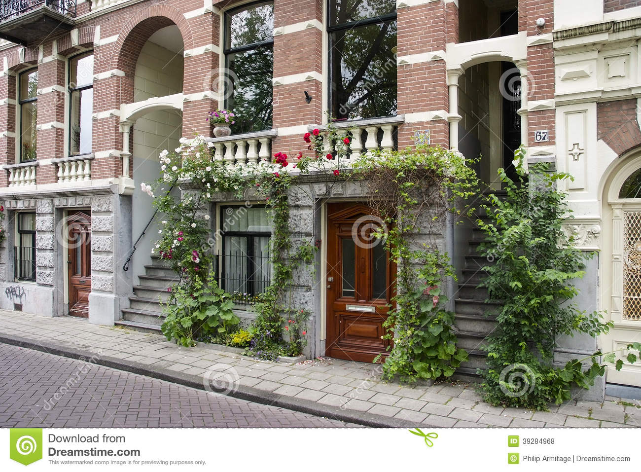 Beautiful house in amsterdam editorial stock photo image for Brick facade house