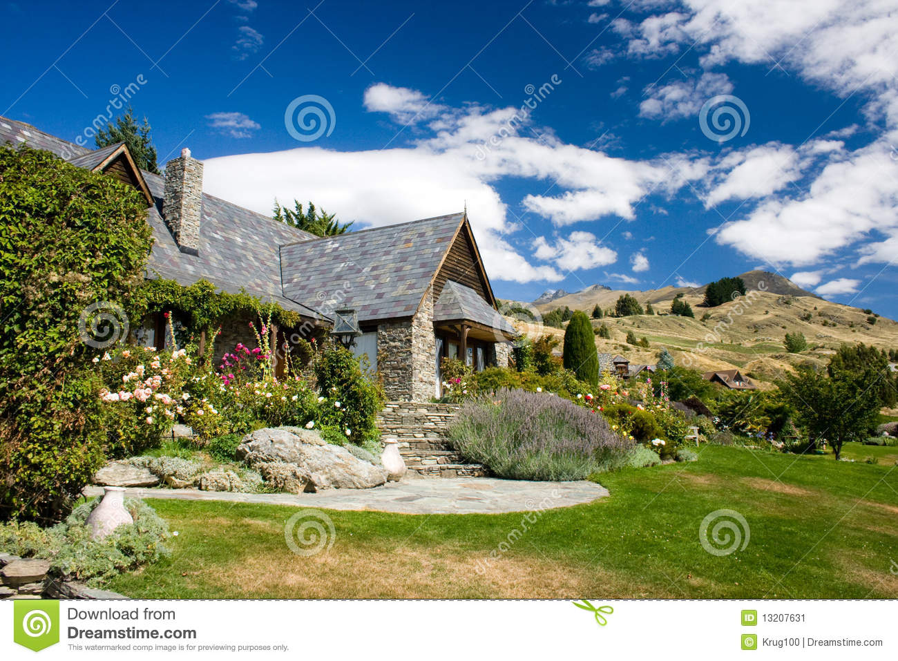 Beautiful House On A Hills Stock Image Image 13207631