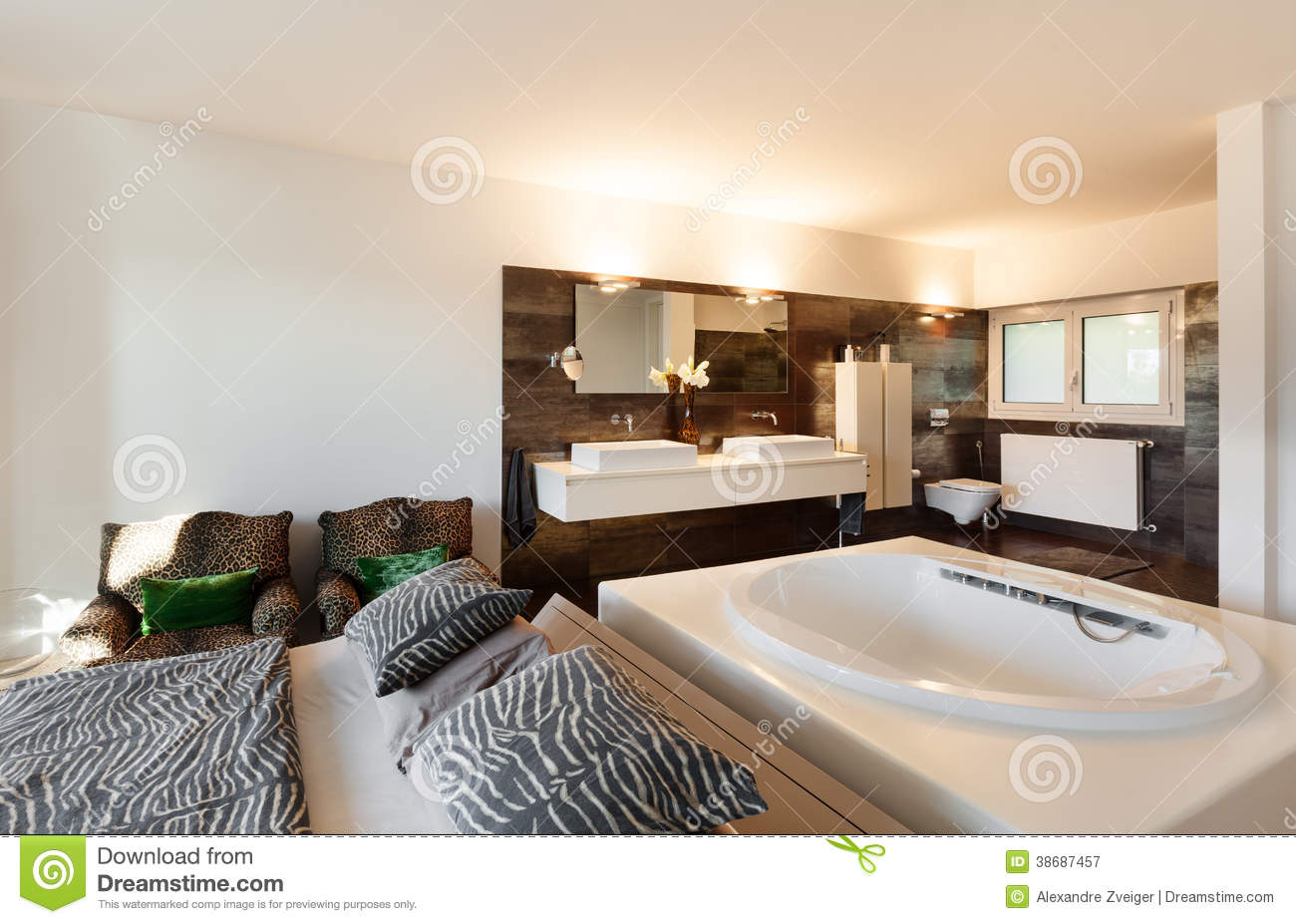 Beautiful house royalty free stock photography image for Beautiful contemporary bedrooms
