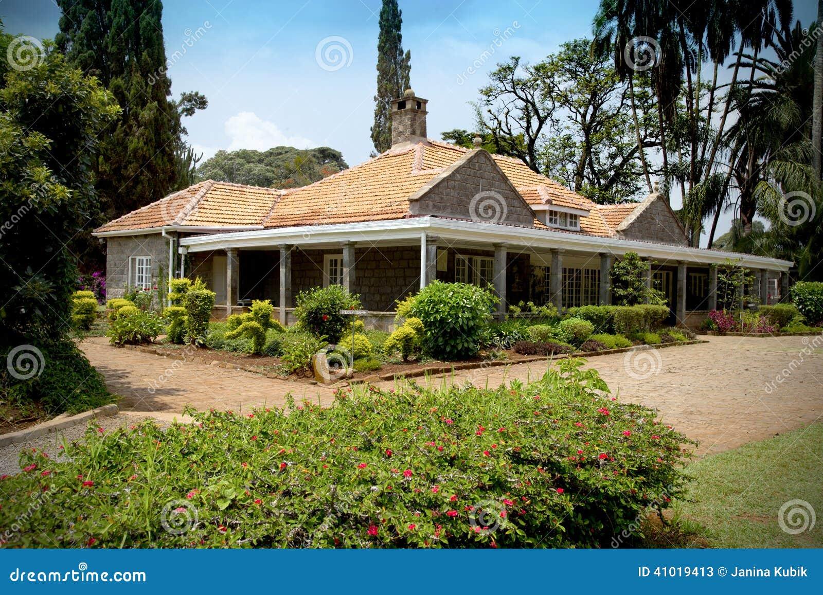 Beautiful house in kenya stock image image of blixsen for Beautiful house designs kenya