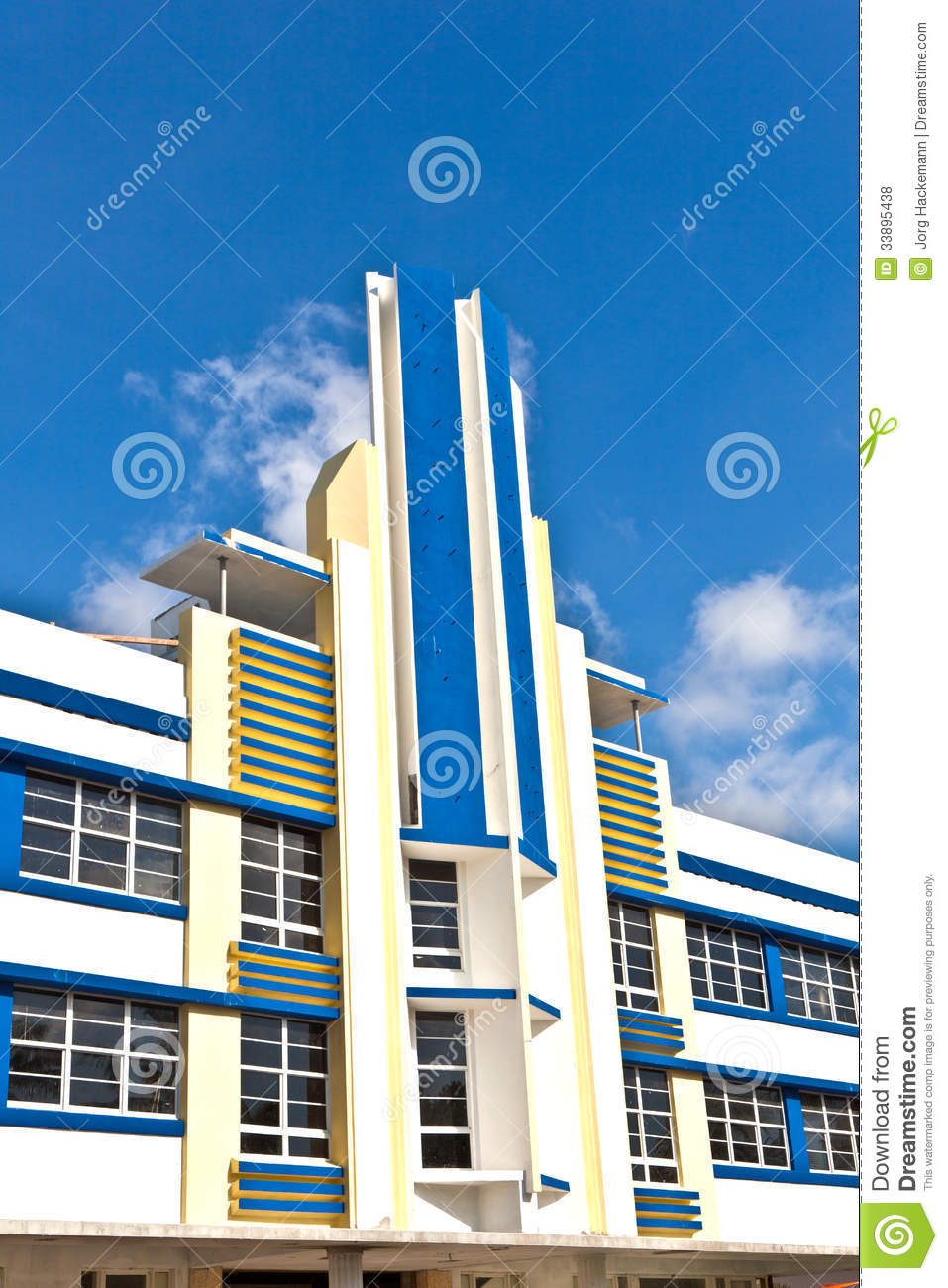 Beautiful Houses In Art Deco Style Editorial Stock Photo Image 33895438