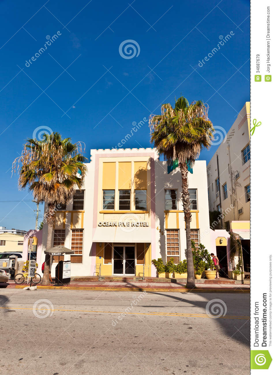 beautiful houses in art deco style editorial stock image