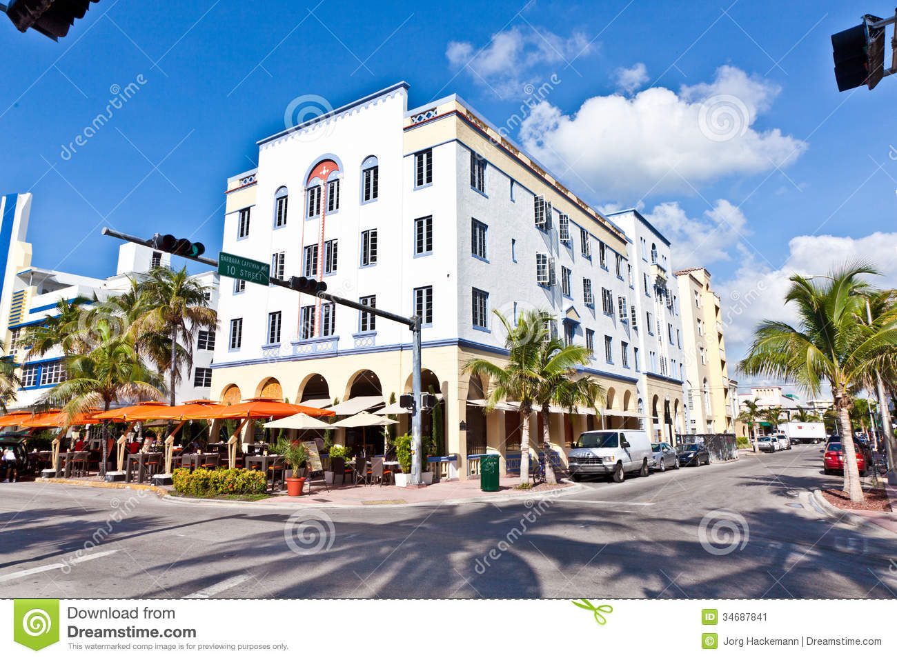 Beautiful houses in art deco style editorial photo image Architect florida