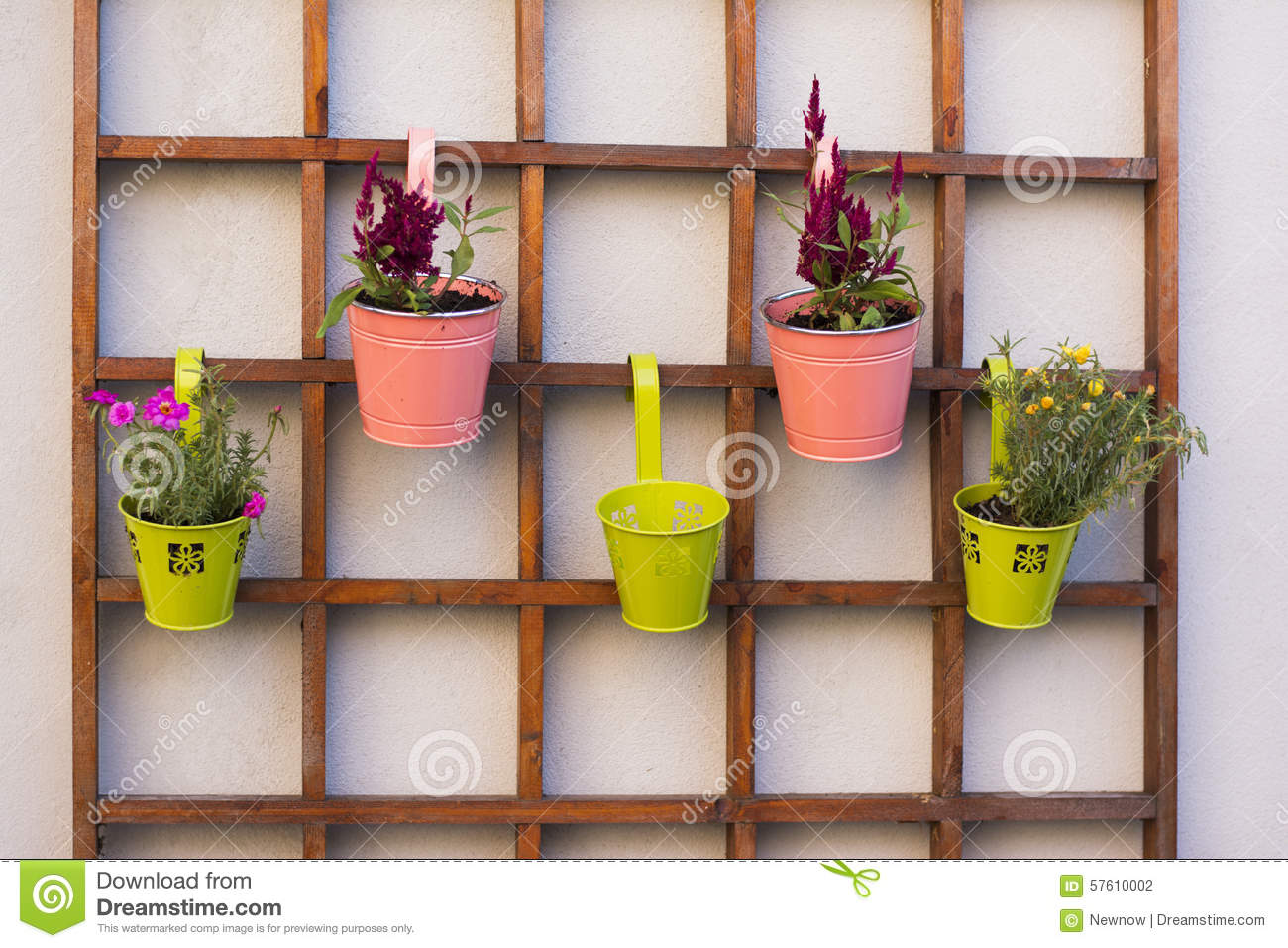 Beautiful Idea For Flower Pots In Garden Stock Photo Image 57610002