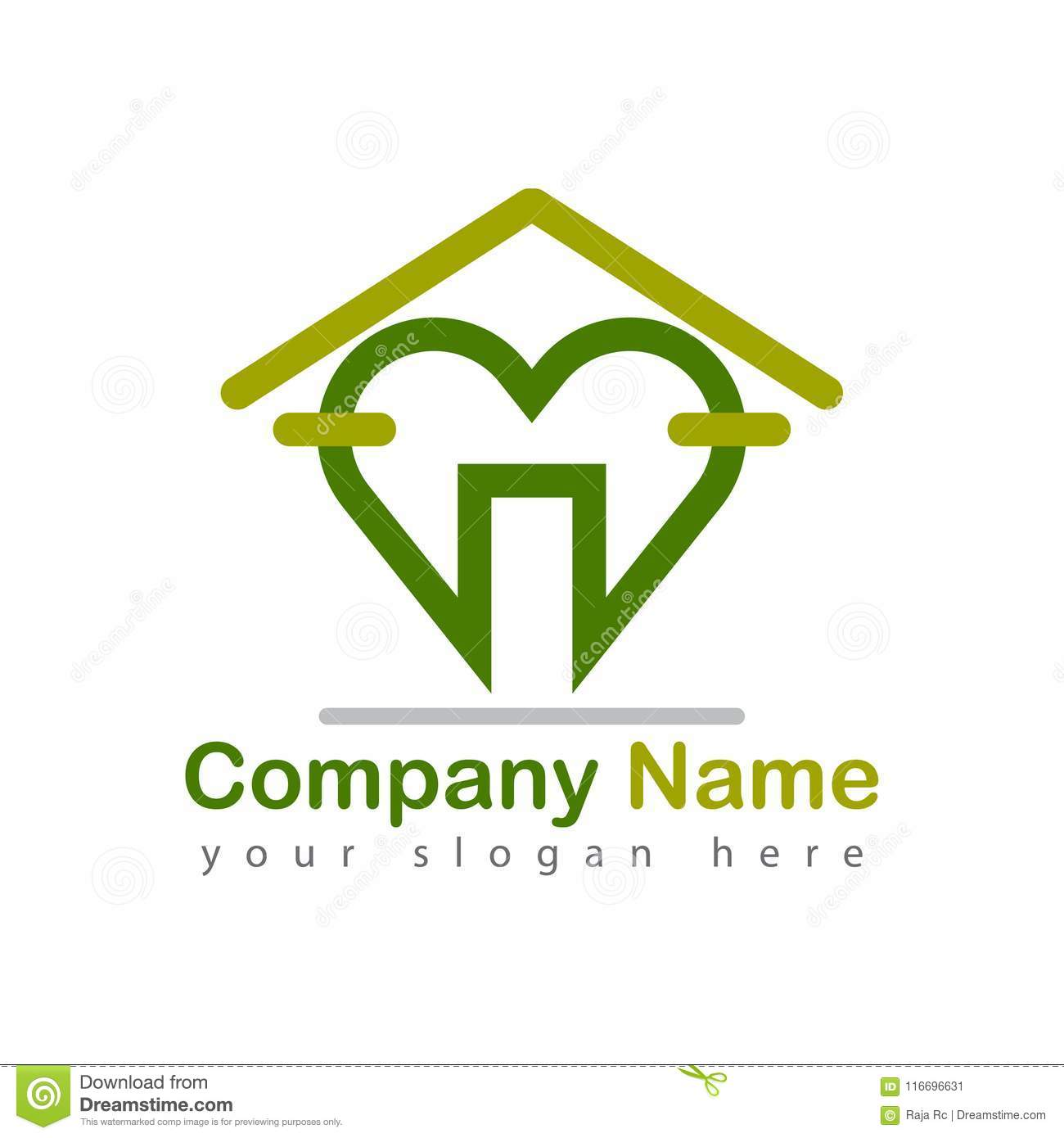 Health Care Heart Home Logo Stock Vector Illustration Of Construct Business 116696631