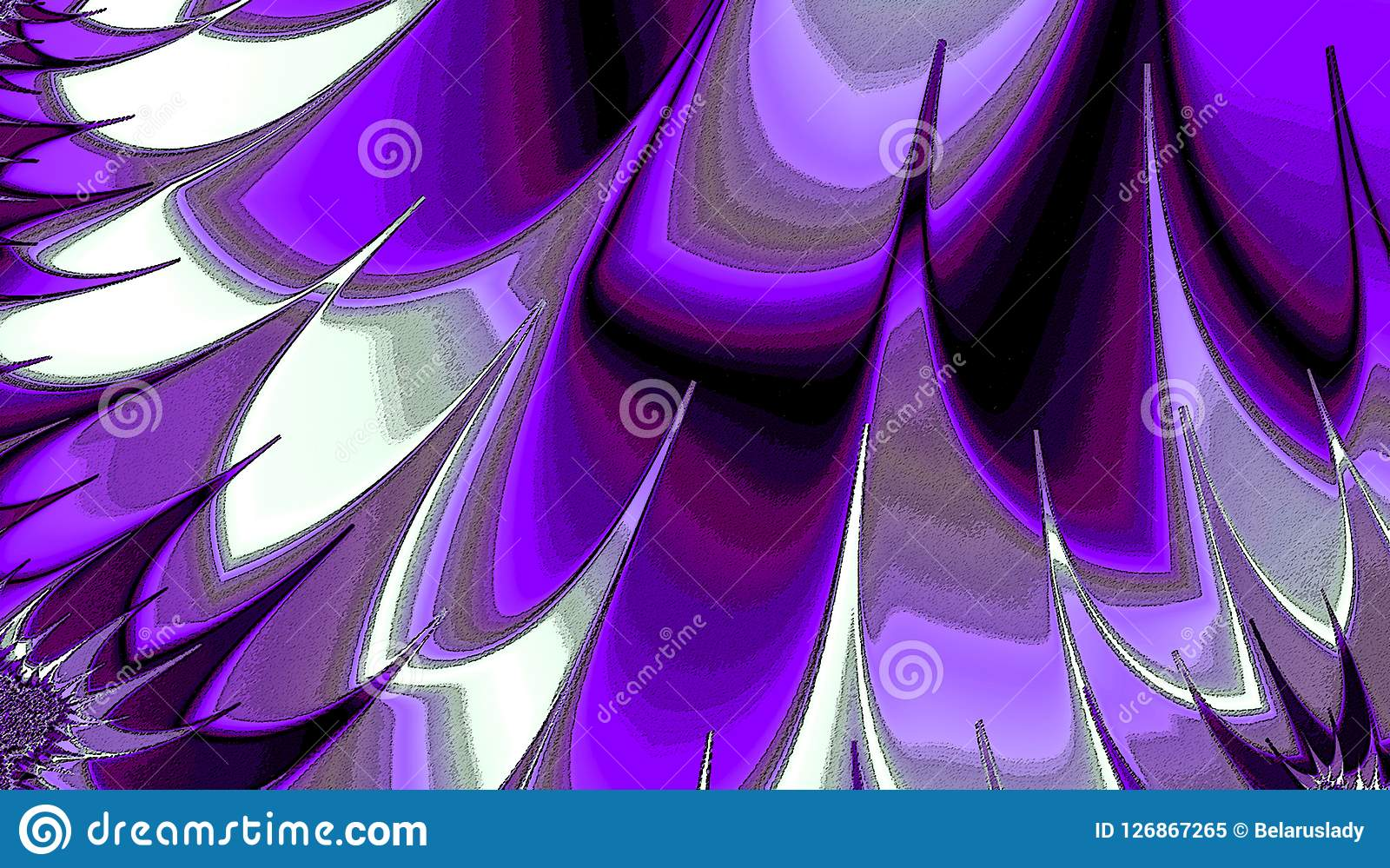 Beautiful illustration with purples gradient abstract feathers. Modern geometric background. Illustration with purples gradient abstract feathers. Modern Royalty Free Stock Photo