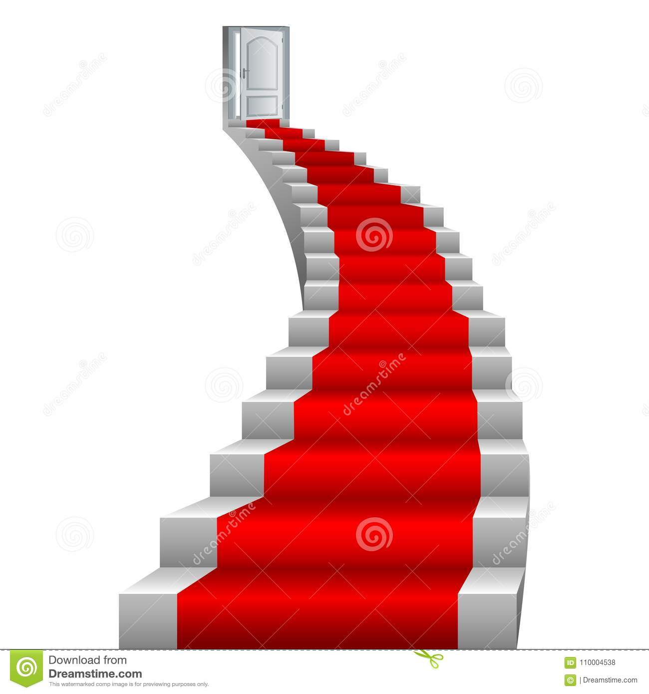 Beautiful stairs vector illustration design