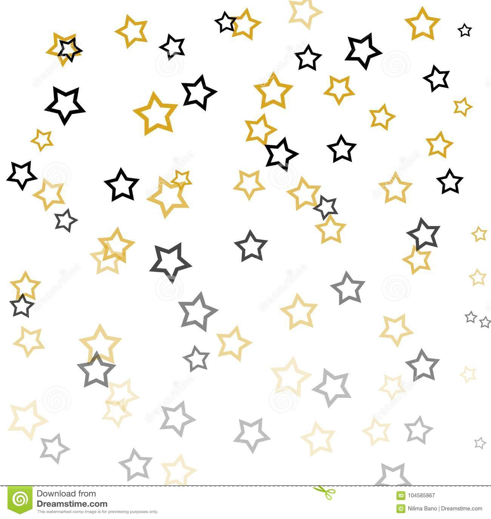 Stars Illustration On White Background Stock Illustration