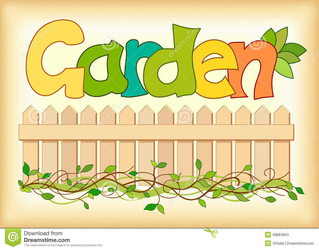 Beautiful Image Of The Word Garden Stock Vector Image