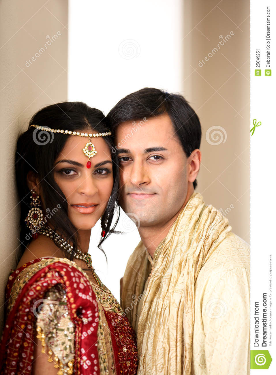 Beautiful Indian Couple Stock Image Image Of Jewelery 25049251