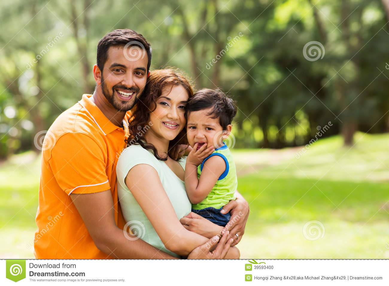 Beautiful indian family stock photo. Image of baby, nature ...