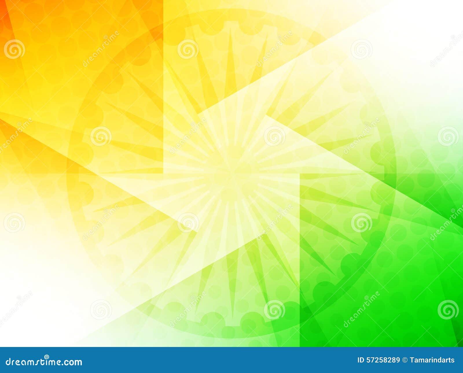 Indian Flag Theme: Beautiful Indian Flag Theme Background Design. Stock