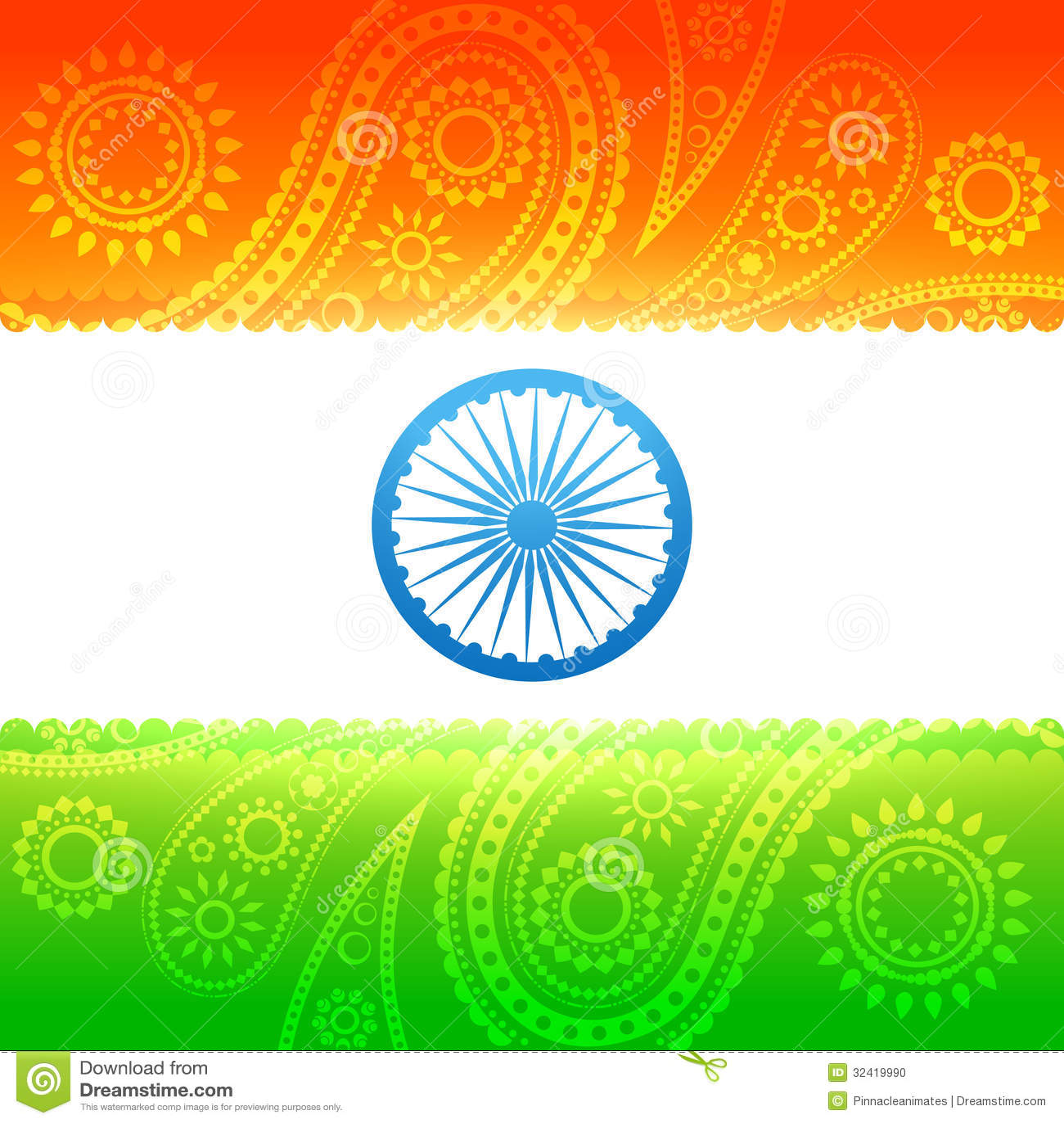 Beautiful Indian Flag Stock Photo Image 32419990
