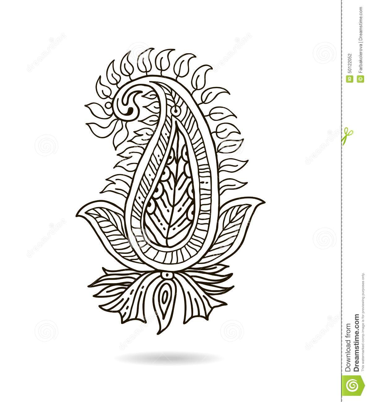 Tree coloring pages only coloring pages - Beautiful Indian Floral Ornament For Your Business Hand Draw Line Art