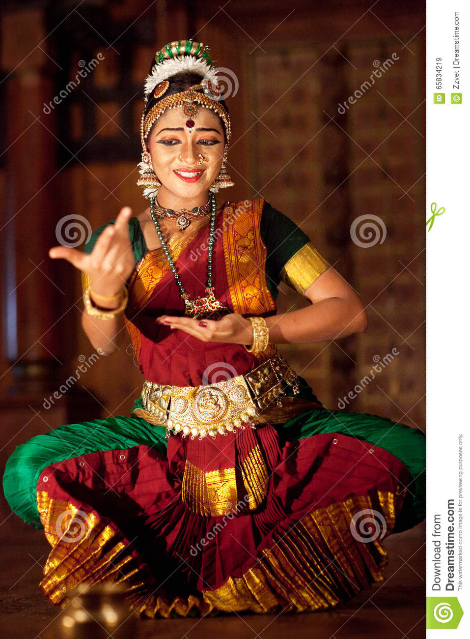 Beautiful Indian Girl Dancing Classical Traditional Indian -6543