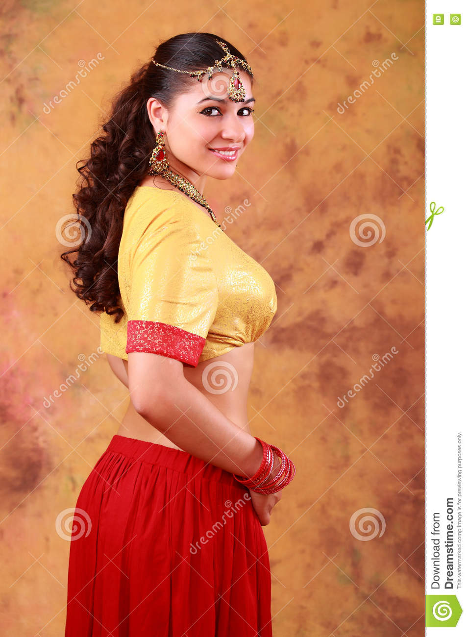 9a3fa1e496 Beautiful Indian girl in traditional dress. More similar stock images