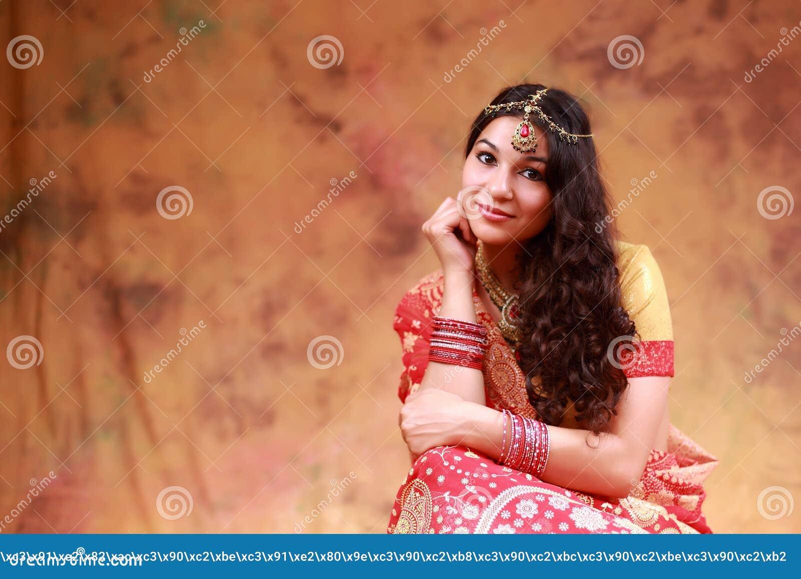 a4f5e26bfa Beautiful Indian girl stock image. Image of asian, bride - 77986651