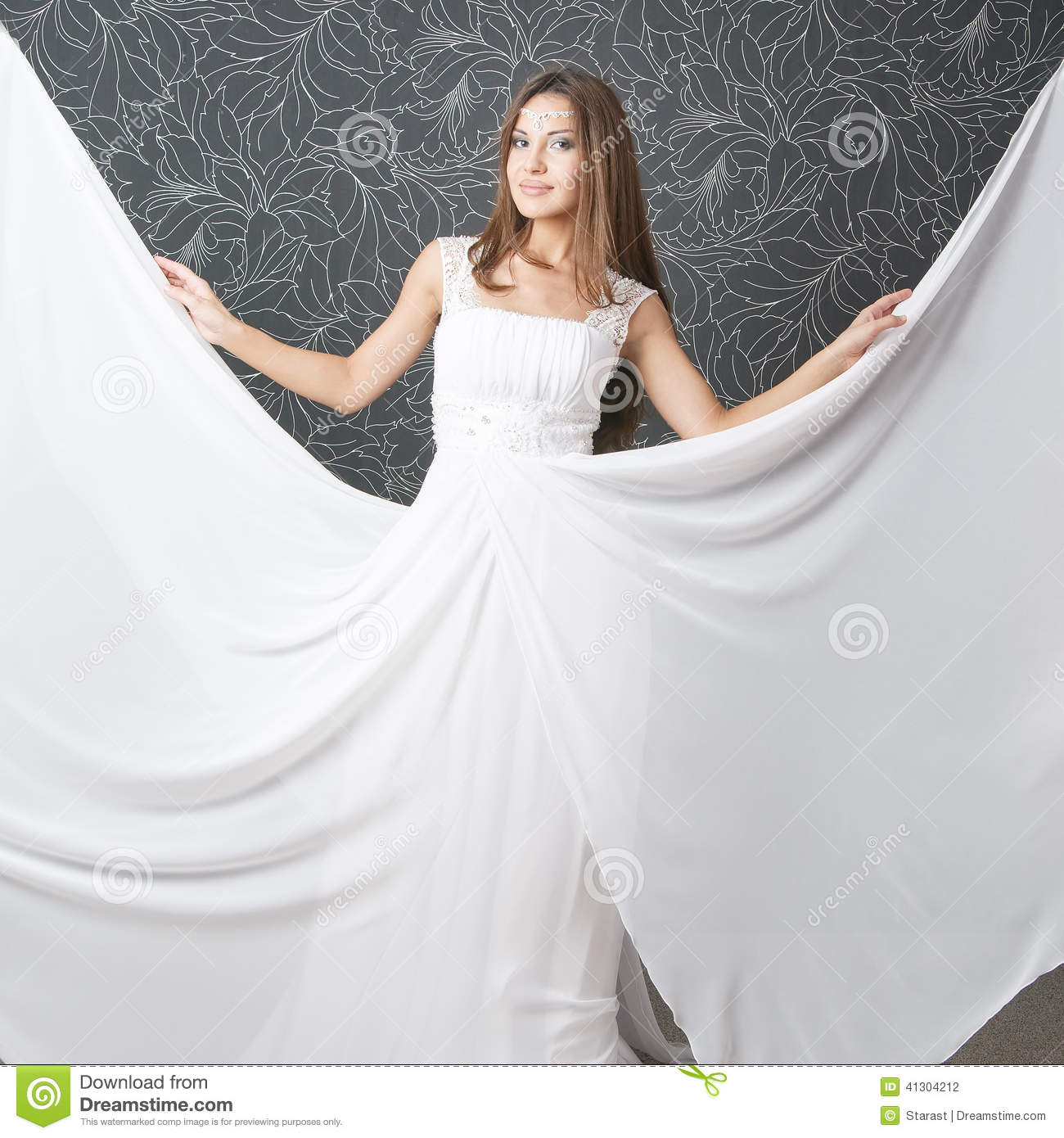 Beautiful Indian Woman In White Wedding Dress Stock Photo - Image of ...