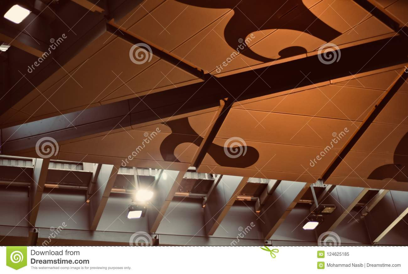 Download Stylish Ceiling Lights Of A Buildings Interior Unique Photo Stock Image - Image of concept, background: 124625185