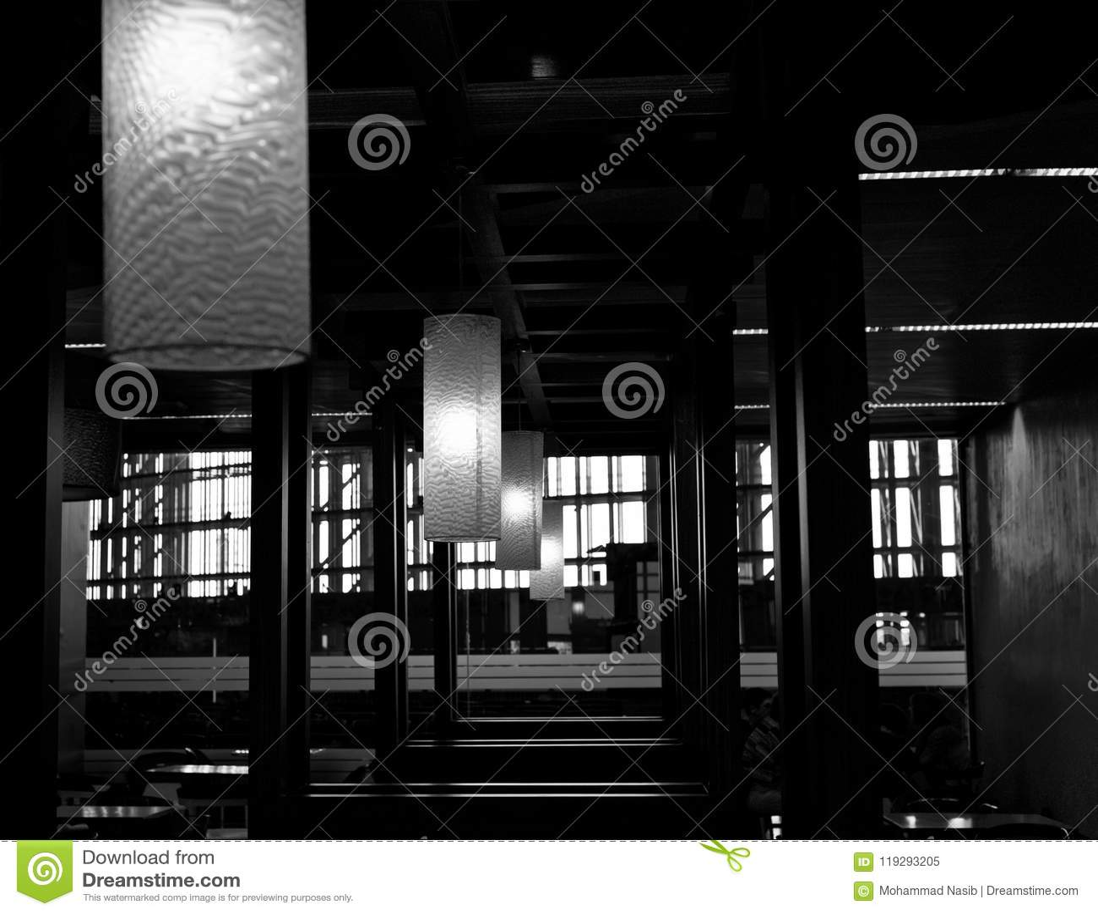 Download Beautiful Interior Decoration Lights Unique Photo Stock Image - Image of backdrop, interior: 119293205