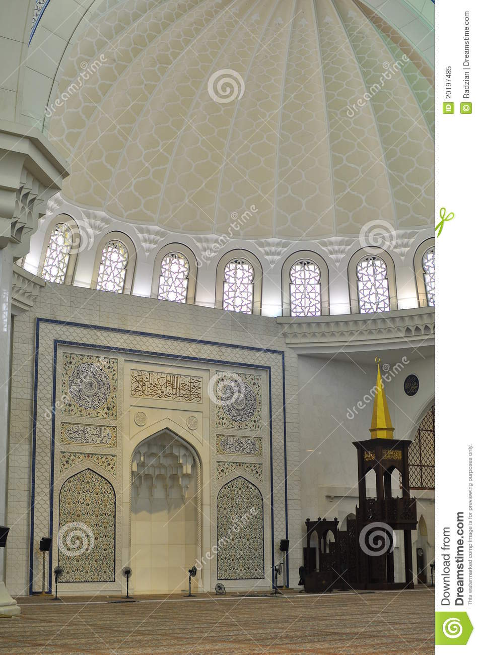 The beautiful interior design of wilayah mosque stock for Architecture interior design photos