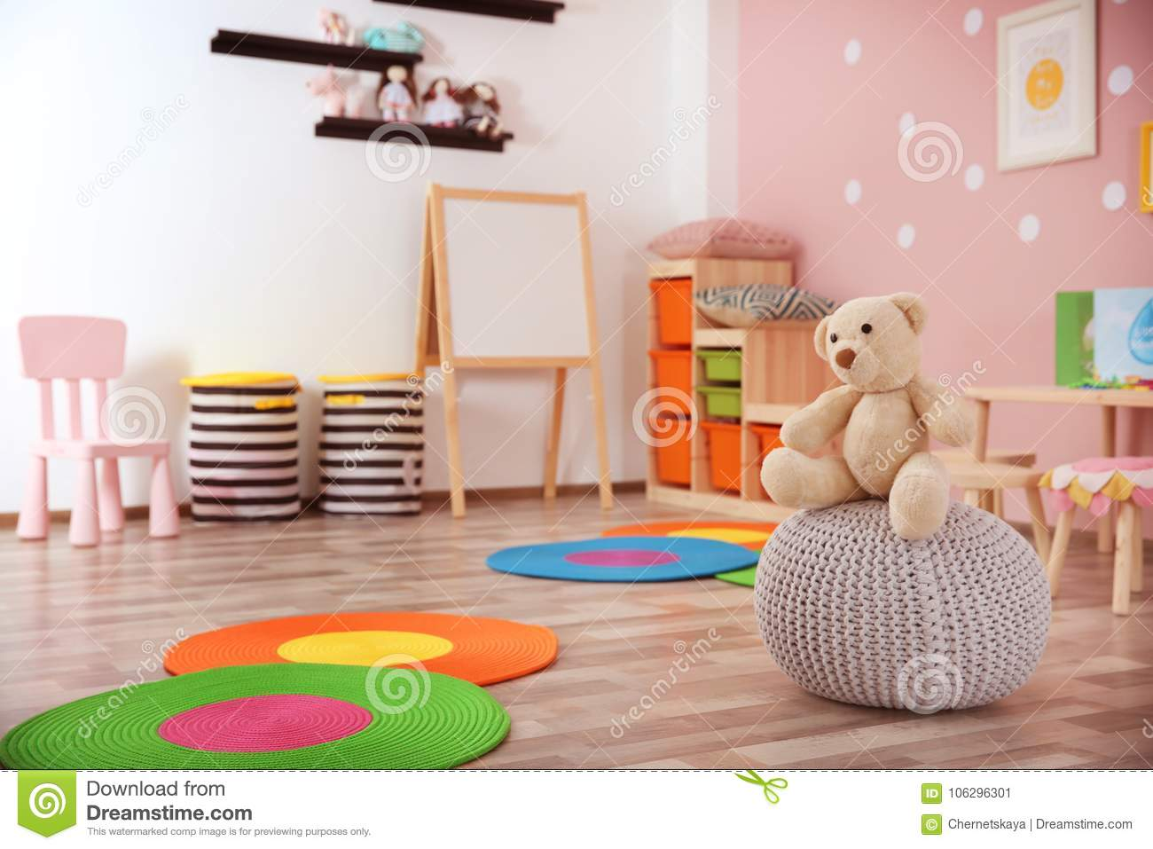 Beautiful interior of game room stock image image of little