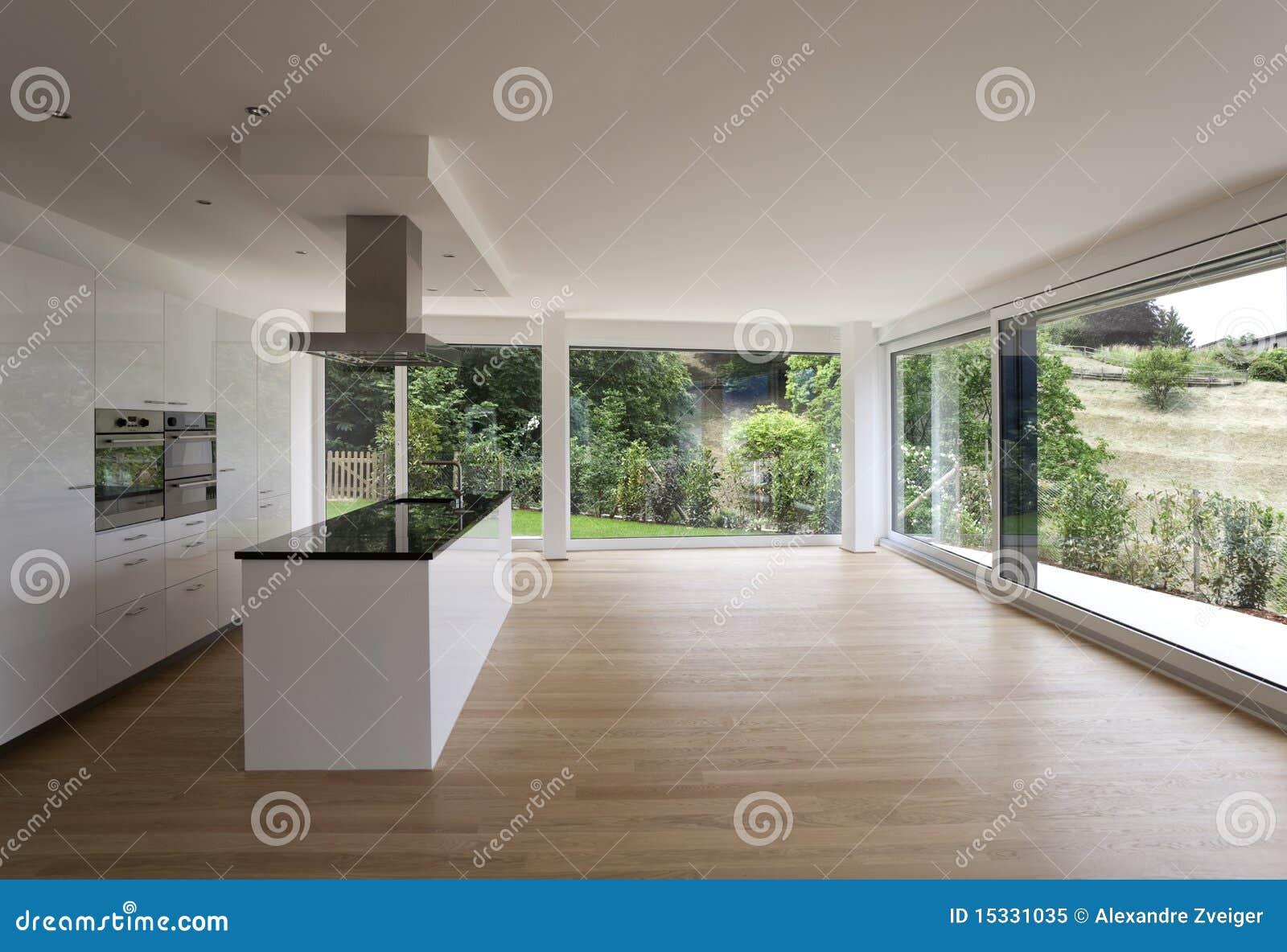 Beautiful interior of a modern house royalty free stock - Interieur de maison contemporaine ...