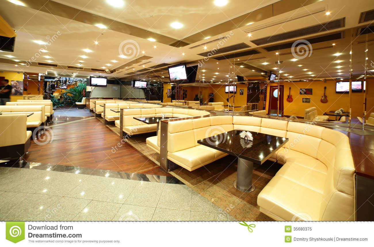 Restaurant kitchen design and layout - Beautiful Interior Of Modern Restaurant Royalty Free Stock Photo