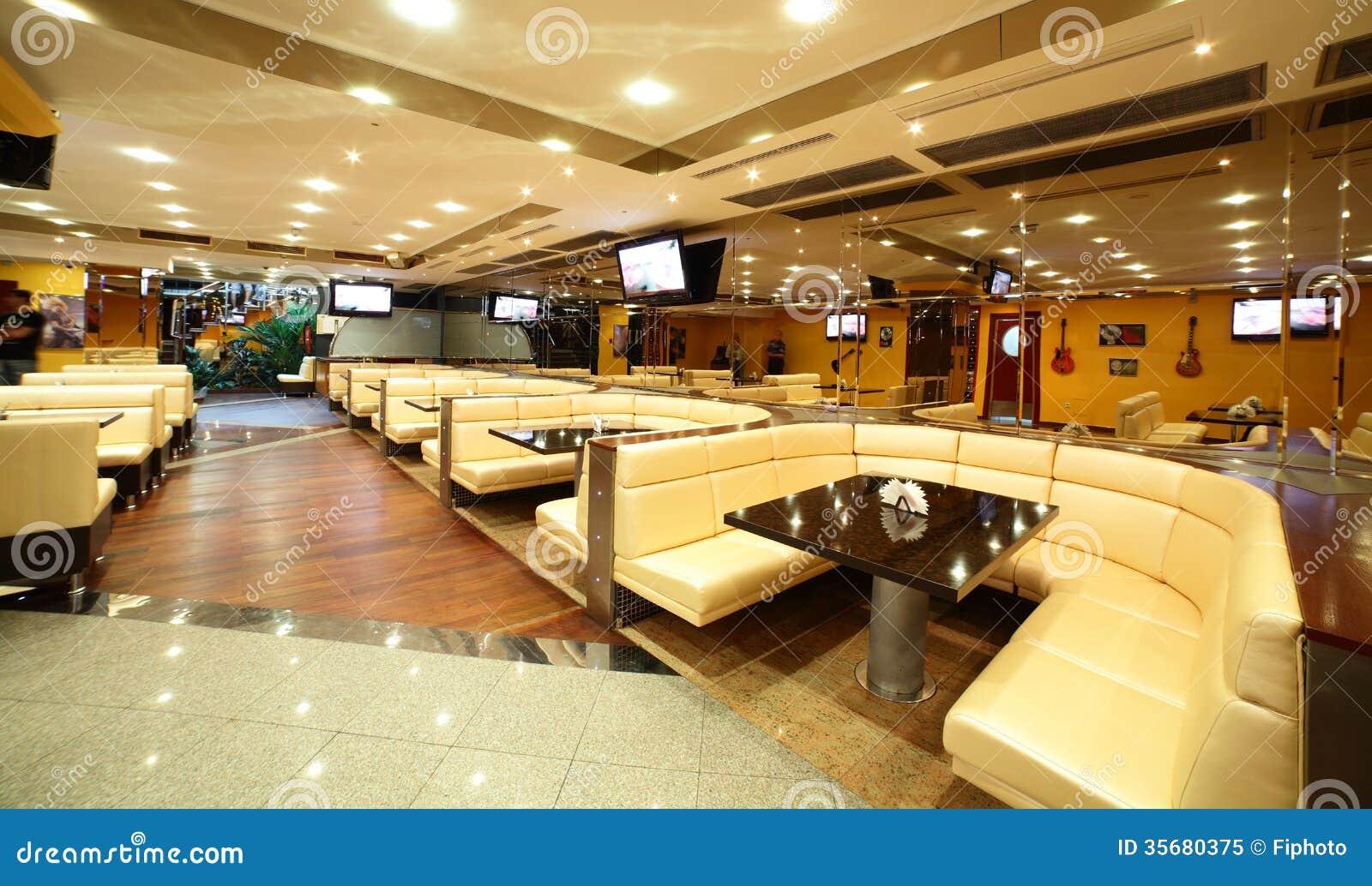 Beautiful Interior Of Modern Restaurant Stock Image - Image of ...