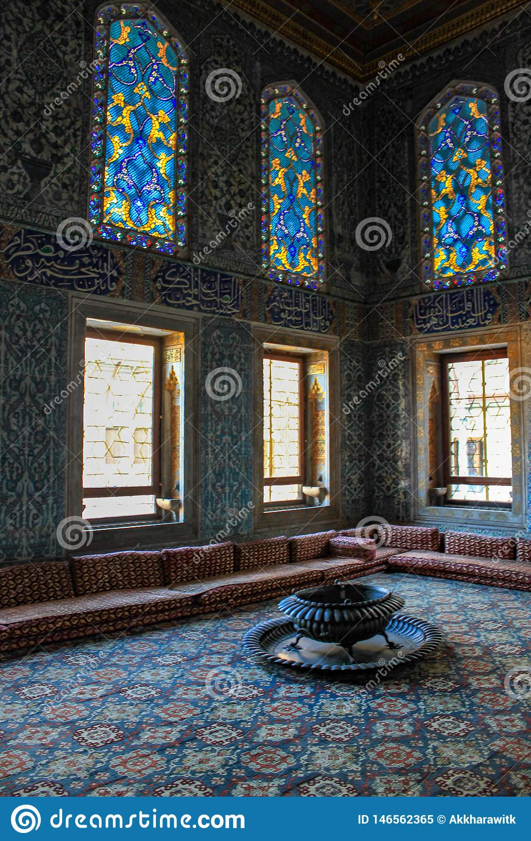 Beautiful interior with mosaic tiles decor