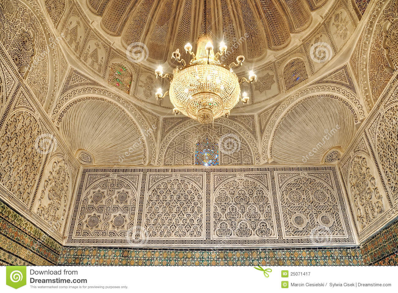 Beautiful Interior Of The Mosque Of The Barber Royalty