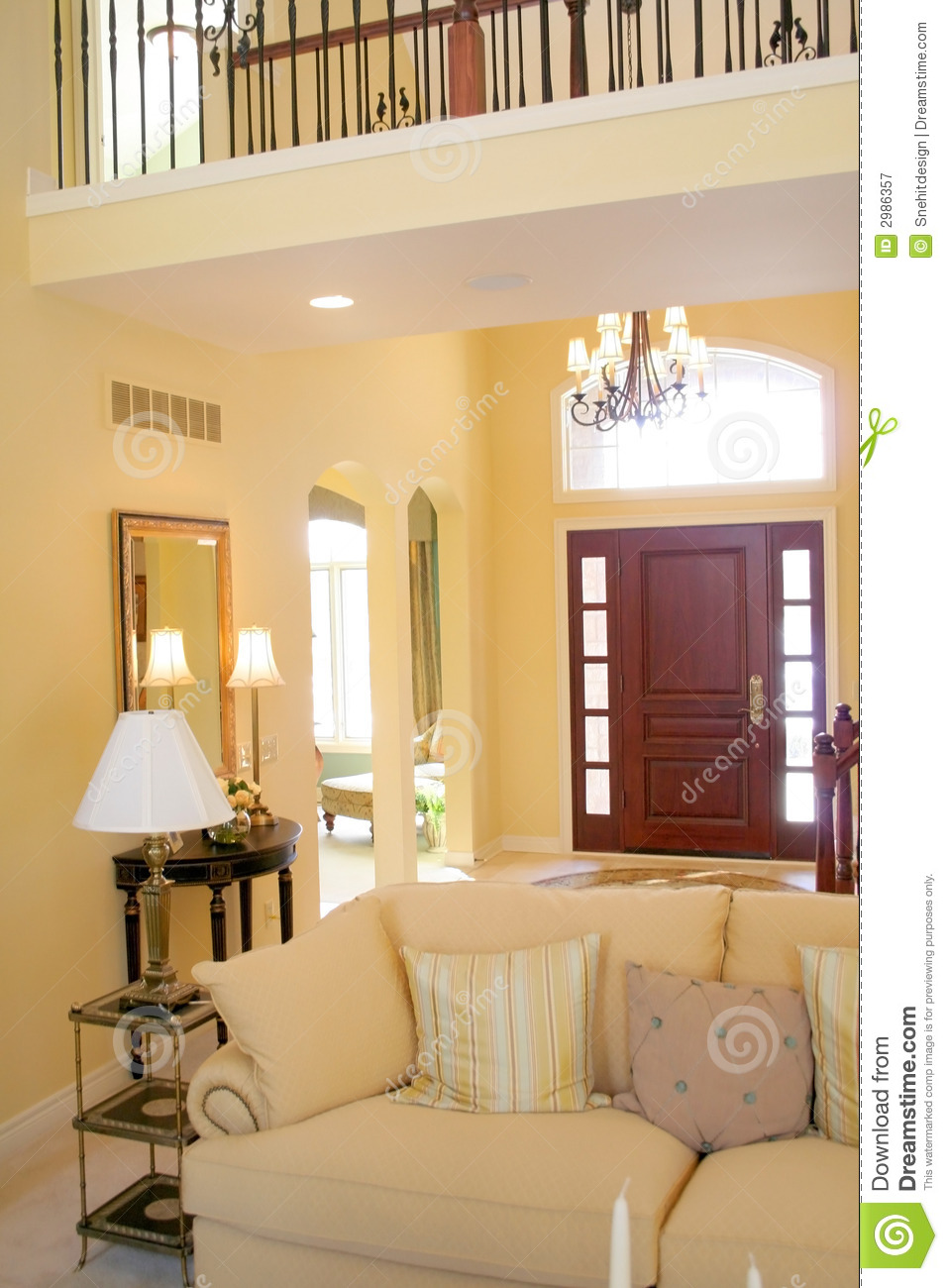 Beautiful Interiors stock image. Image of curtains, carpet ...