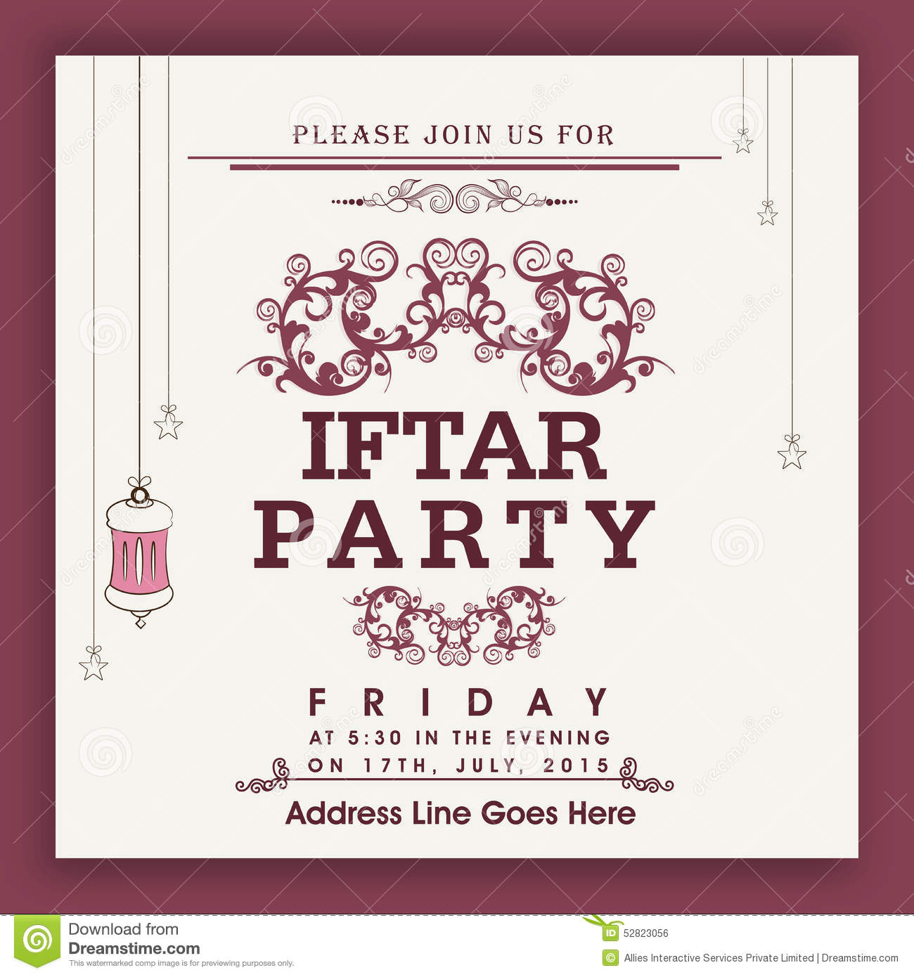 Beautiful invitation card for ramadan kareem iftar party celebration download beautiful invitation card for ramadan kareem iftar party celebration stock illustration illustration of stopboris Gallery