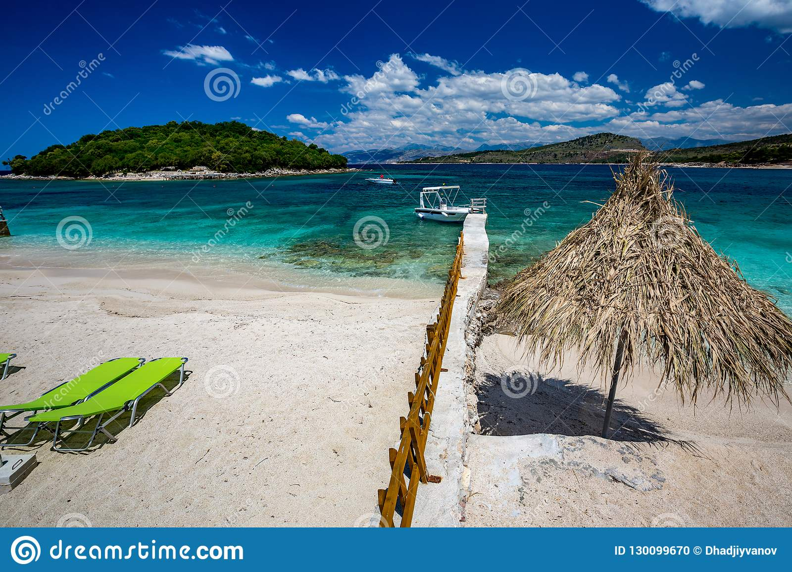 Brilliant Beautiful Ionian Sea Beach Ksamil Albania Stock Photo Home Interior And Landscaping Palasignezvosmurscom