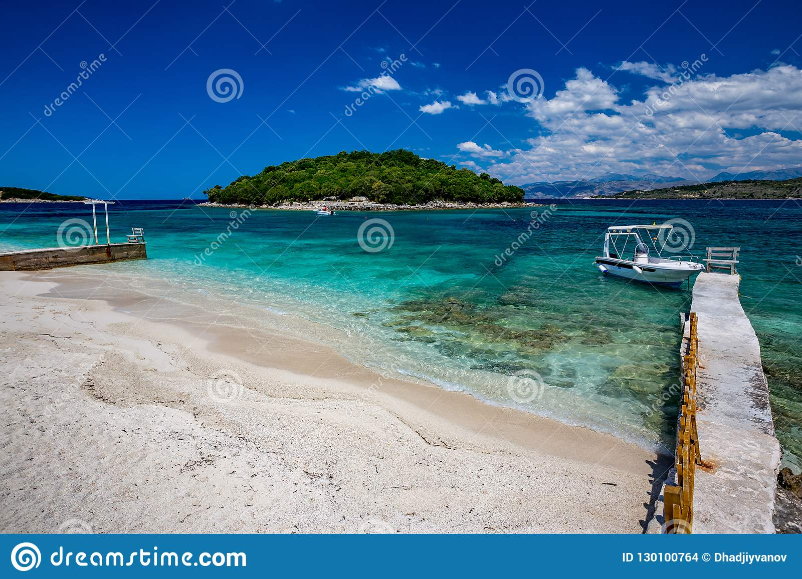 Marvelous Beautiful Ionian Sea Beach Ksamil Albania Stock Photo Home Interior And Landscaping Palasignezvosmurscom