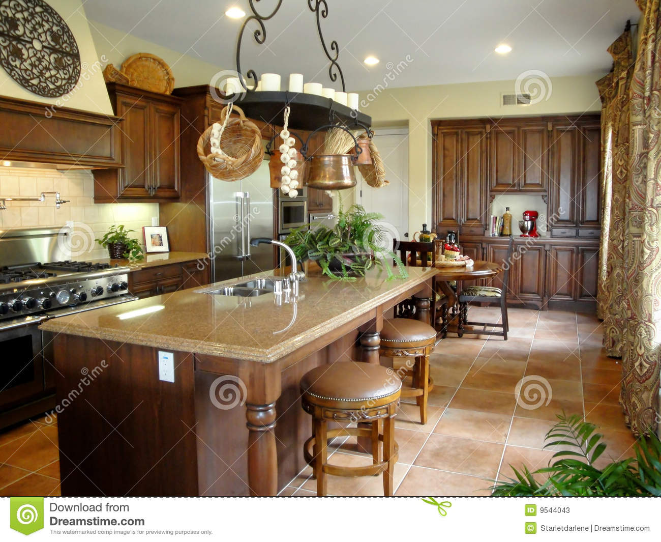 Beautiful Italian Style Kitchen Stock Photos Image 9544043
