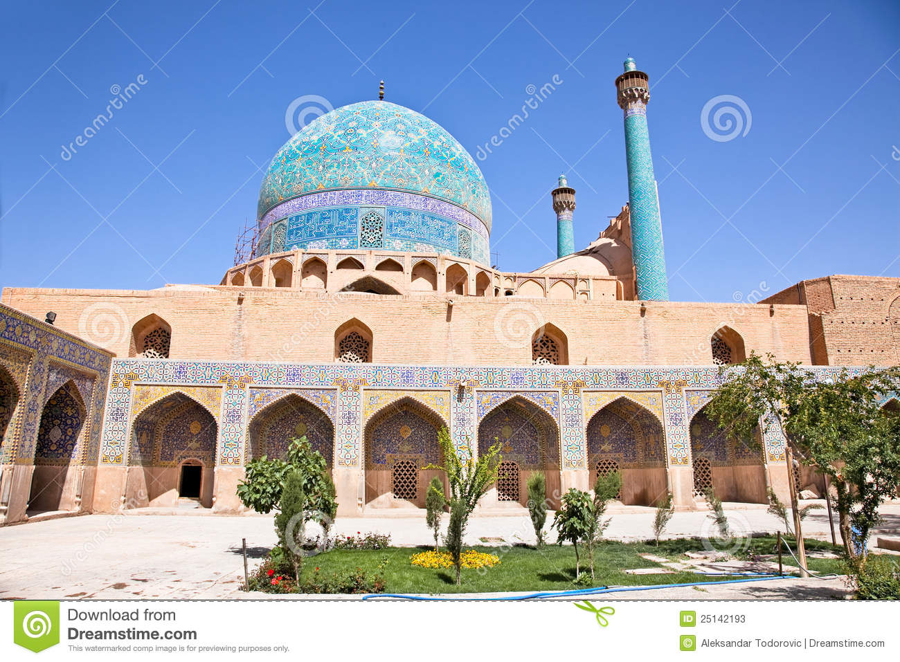 Download Beautiful Jame Abbasi Mosque (Imam Mosque) Stock Image - Image of middle, mosaic: 25142193