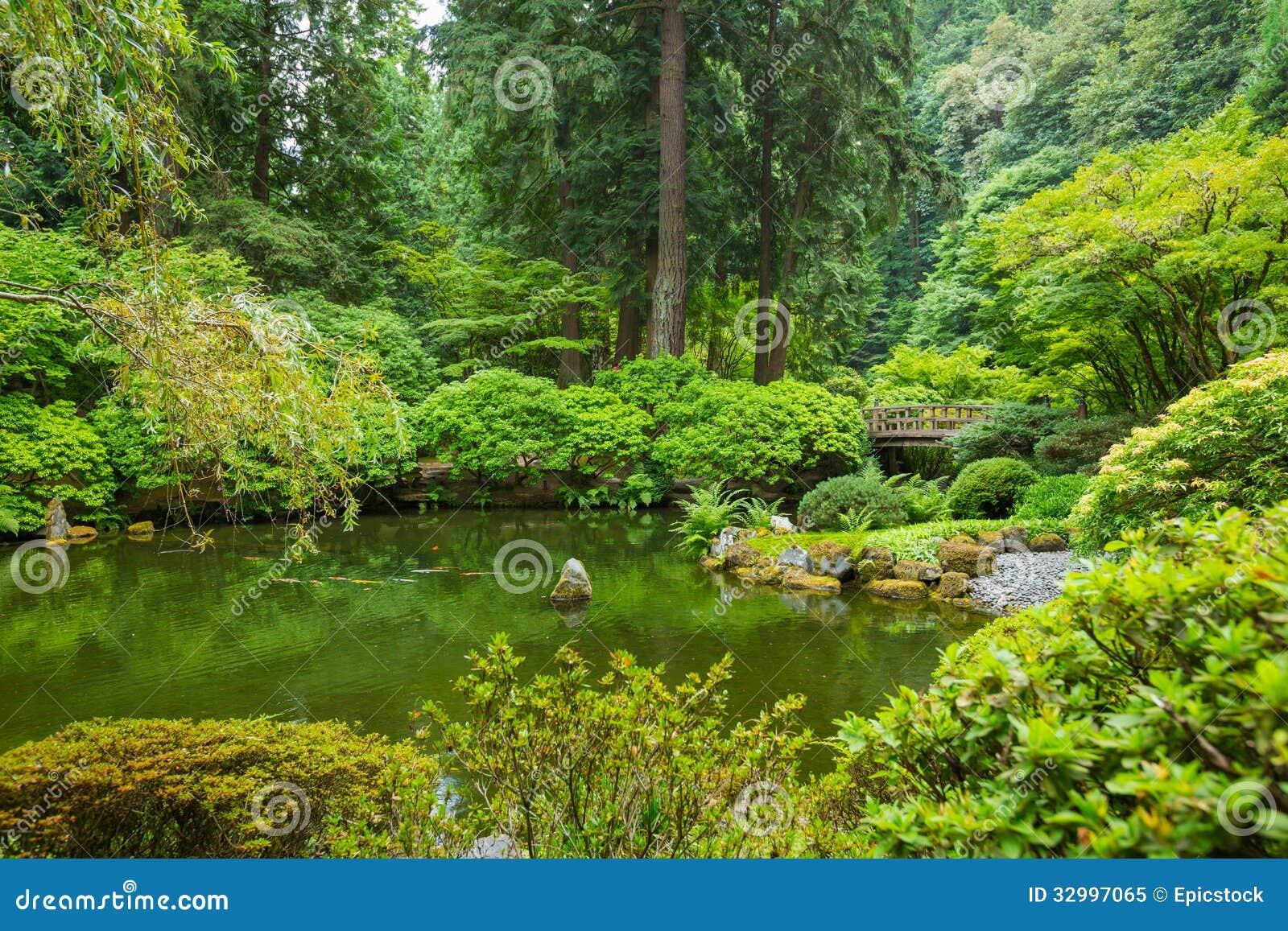 Beautiful Japanese Garden Royalty Free Stock Photo Image