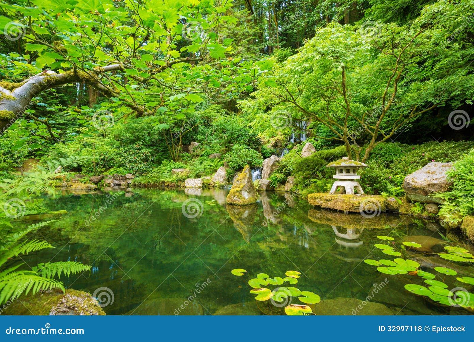 Beautiful Japanese Garden Stock Photo Image Of Bridge 32997118