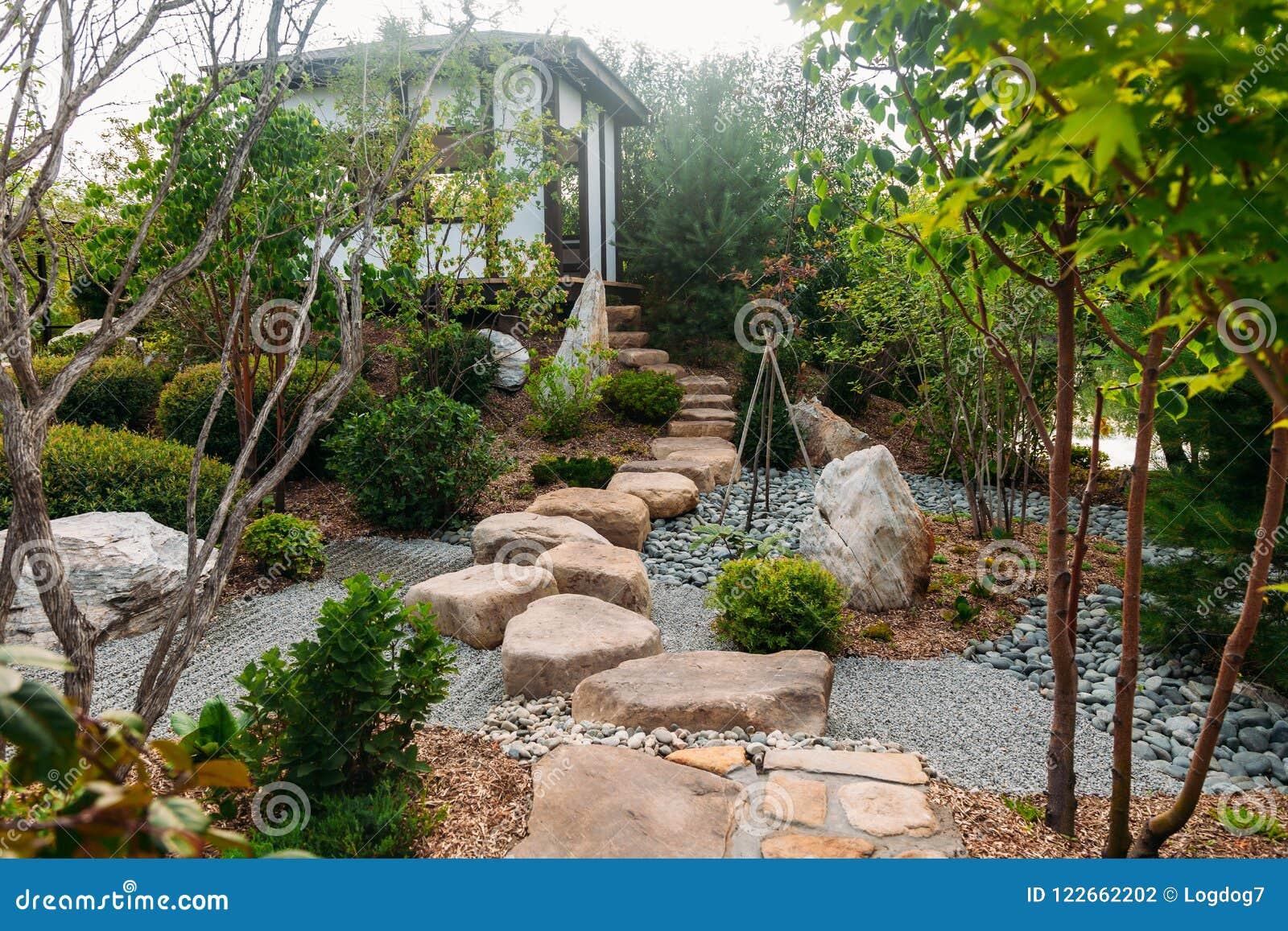 Beautiful Japanese Stone Garden Landscape