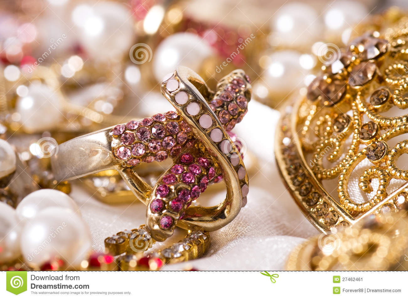 Beautiful jewelry stock image. Image of golden, glimmer - 27462461