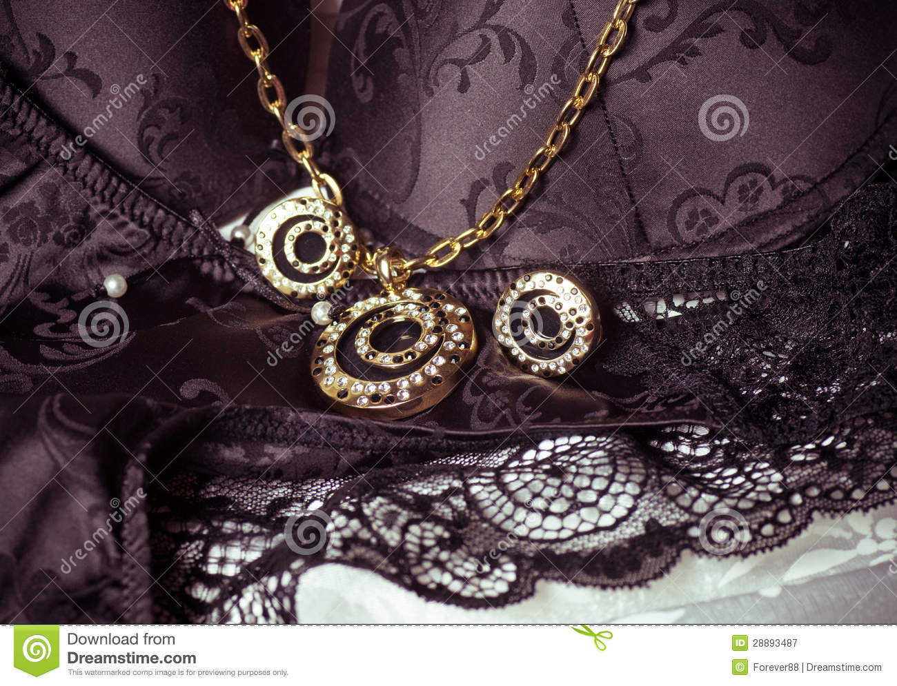 Beautiful Jewelry On Background Stock Image - Image of hairpin ...