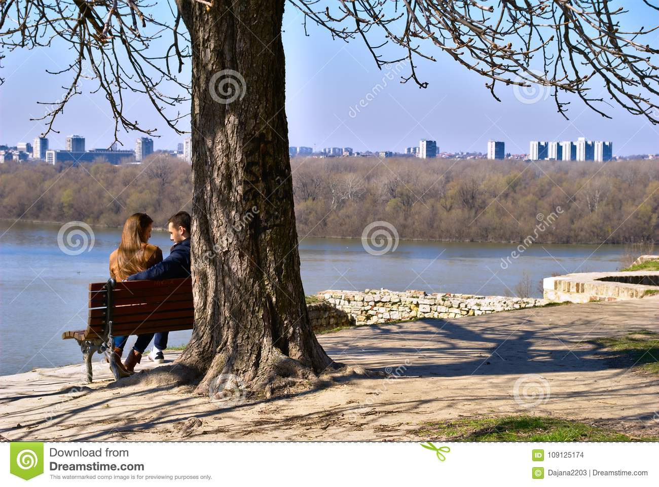 Beautiful Kalemegdan Park On A Sunny Winter S Day Two Lovers