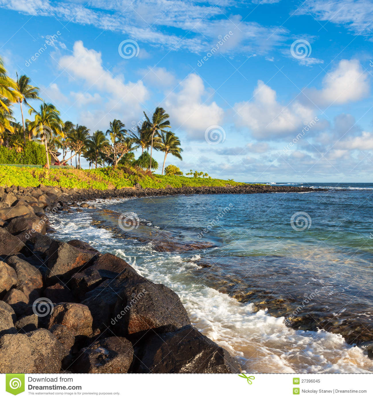 Kauai Beaches: Beautiful Kauai Beach Royalty Free Stock Photo