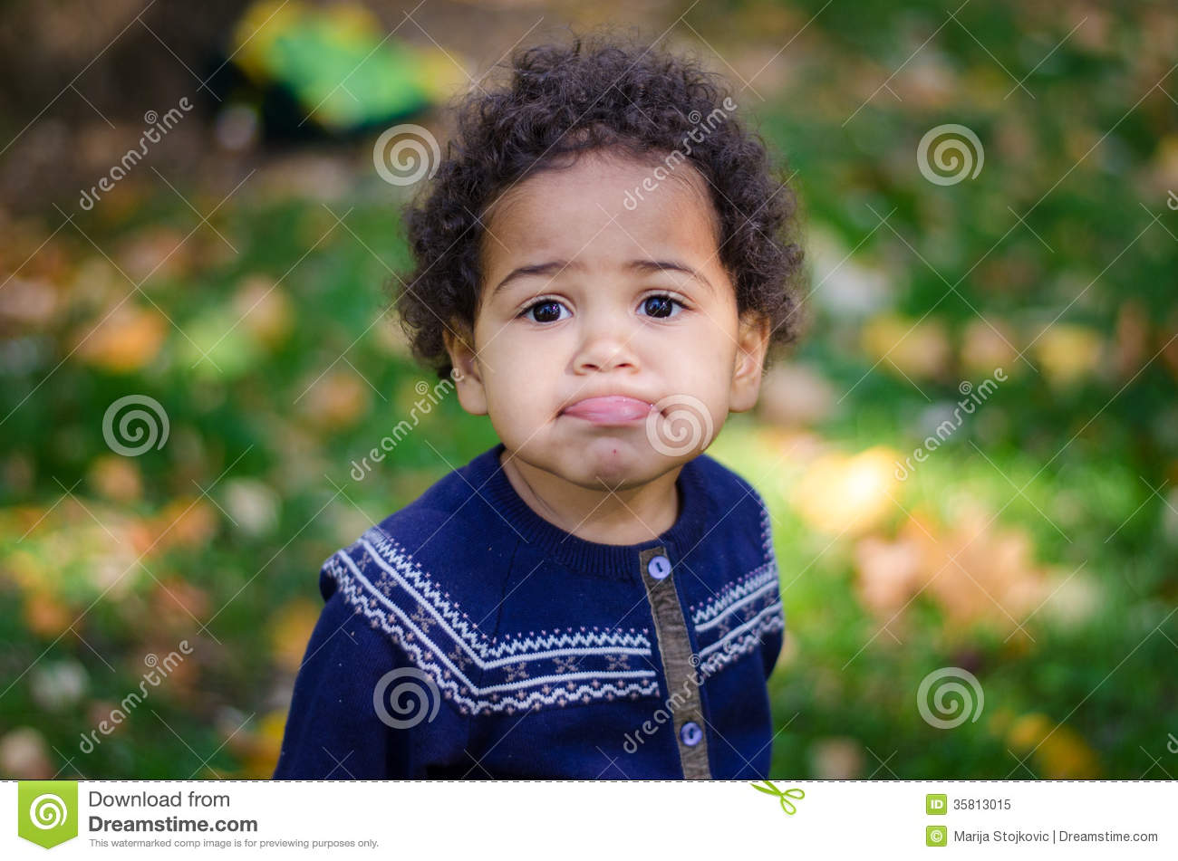 Beautiful kid making faces stock image. Image of adorable ...