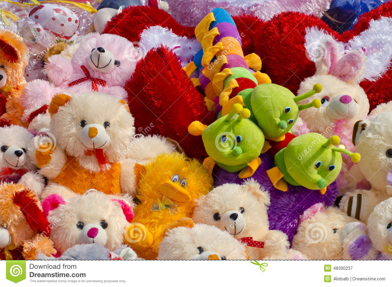 Toys For Groups : Beautiful kids toys group in market stock image