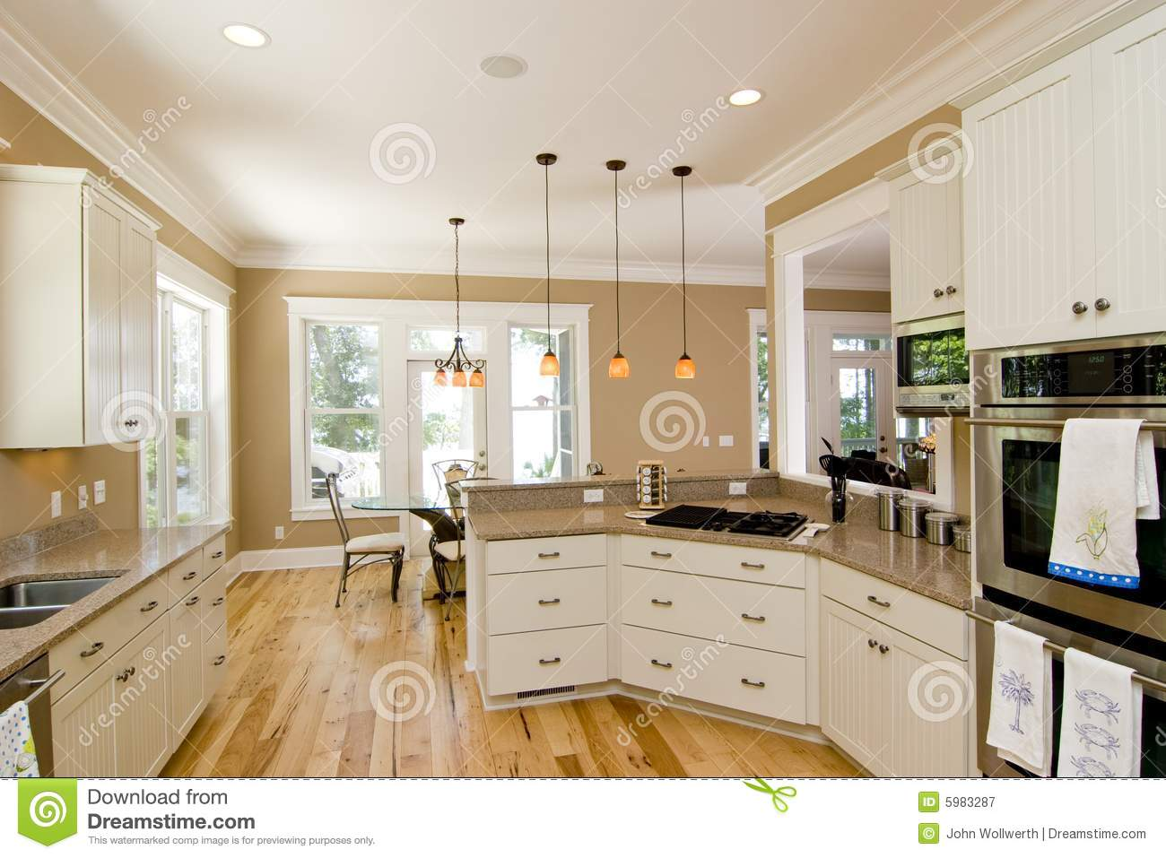 Traditional All White Kitchen