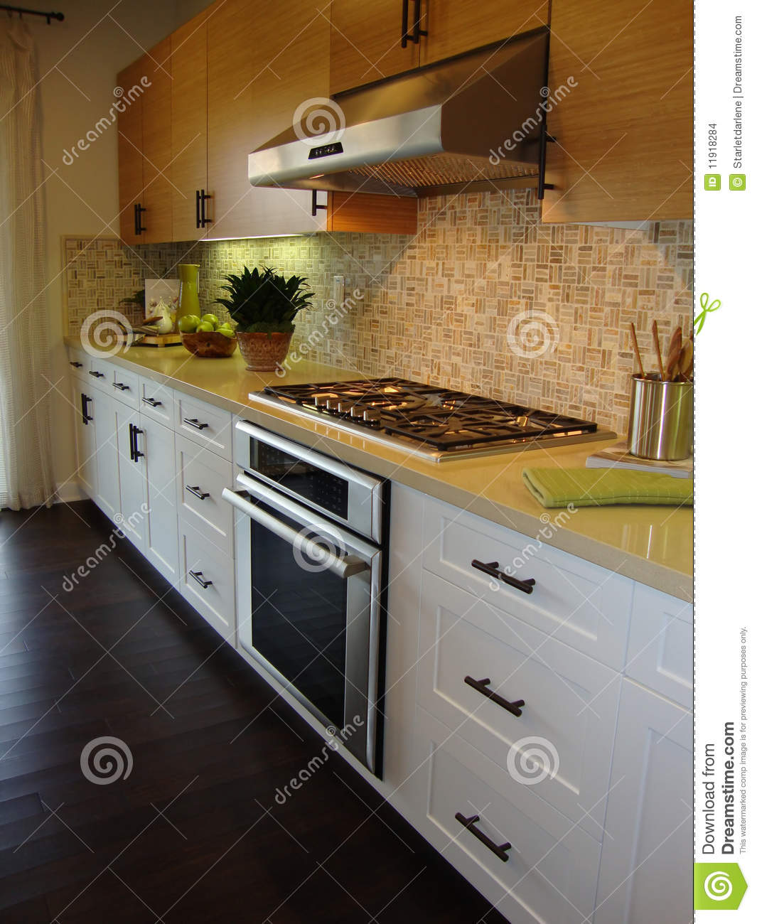 Beautiful kitchen with wood floors stock images image for Beautiful kitchen floors