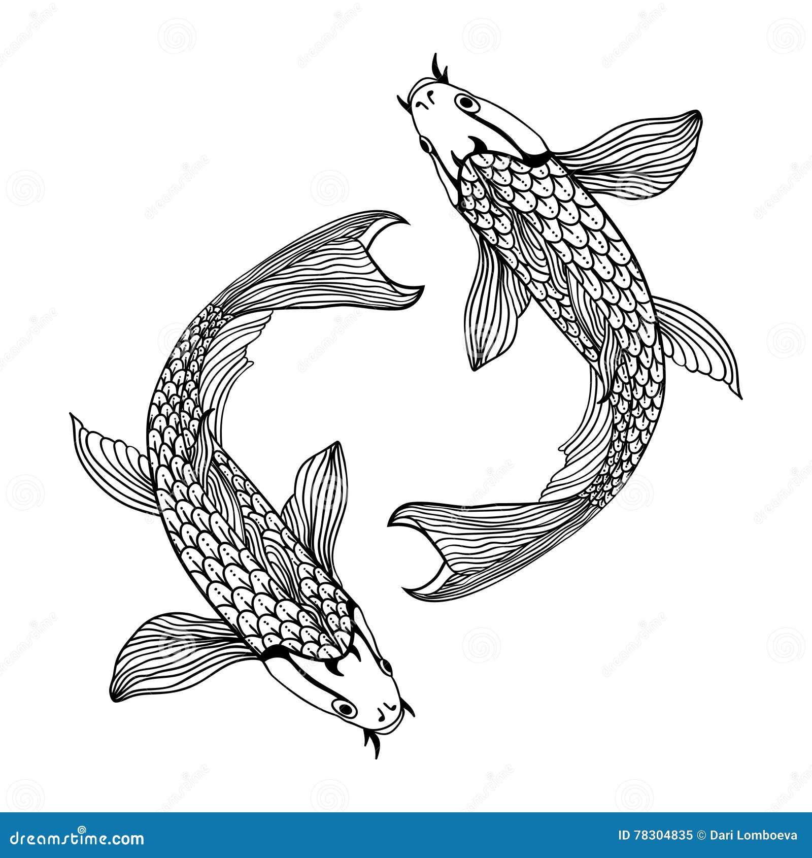 Chinese symbol of friendship stock illustration illustration of beautiful koi carp fish illustration in monochrome symbol of love friendship and prosperity royalty biocorpaavc