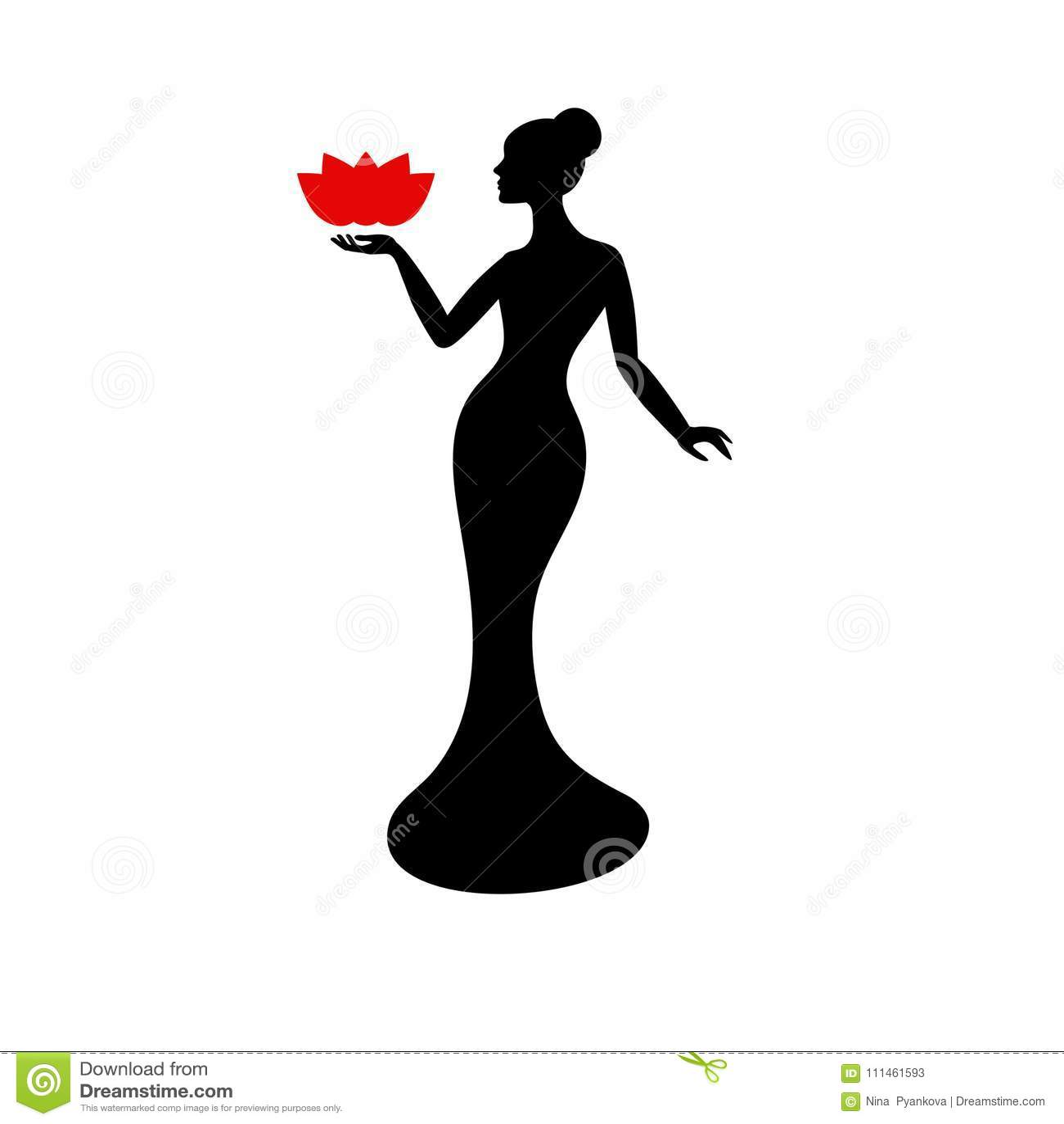 Beautiful lady silhouette stock vector illustration of illustration beautiful lady silhouette beauty salon logo design template fashion model maxwellsz
